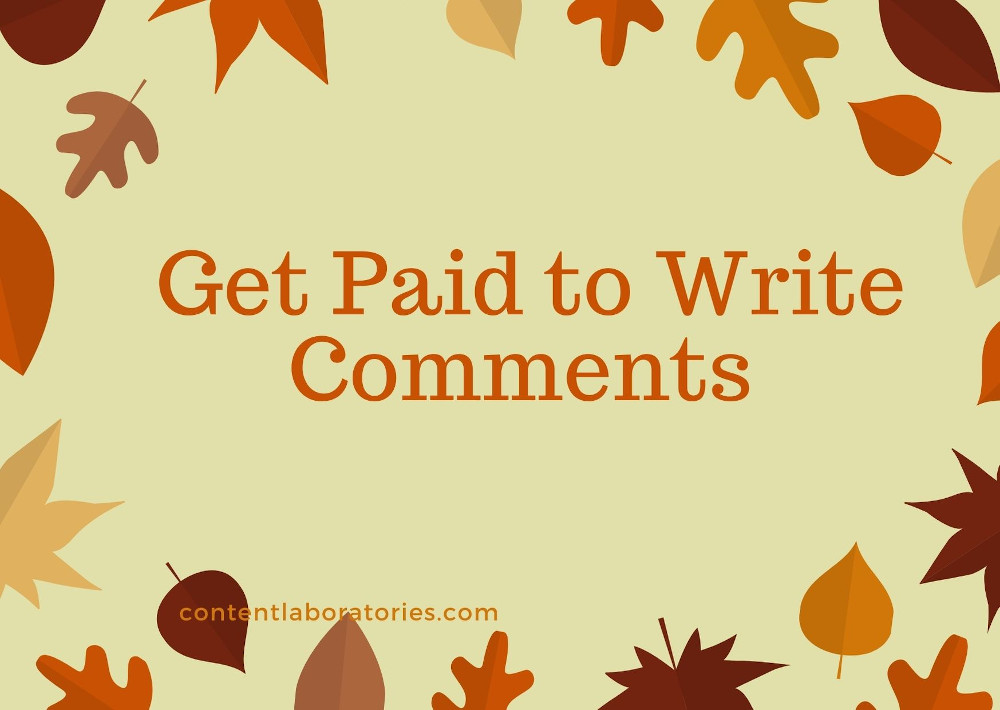 Get Paid write comment - commenting