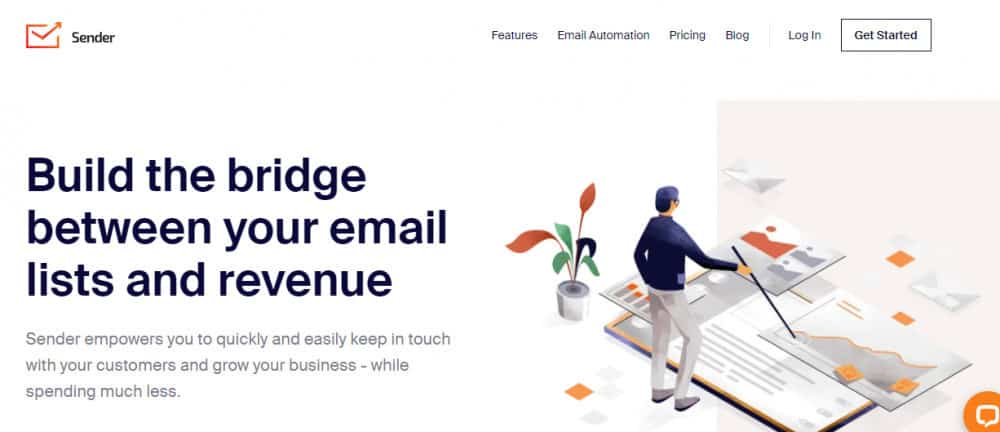 FRee email marketing services - sender